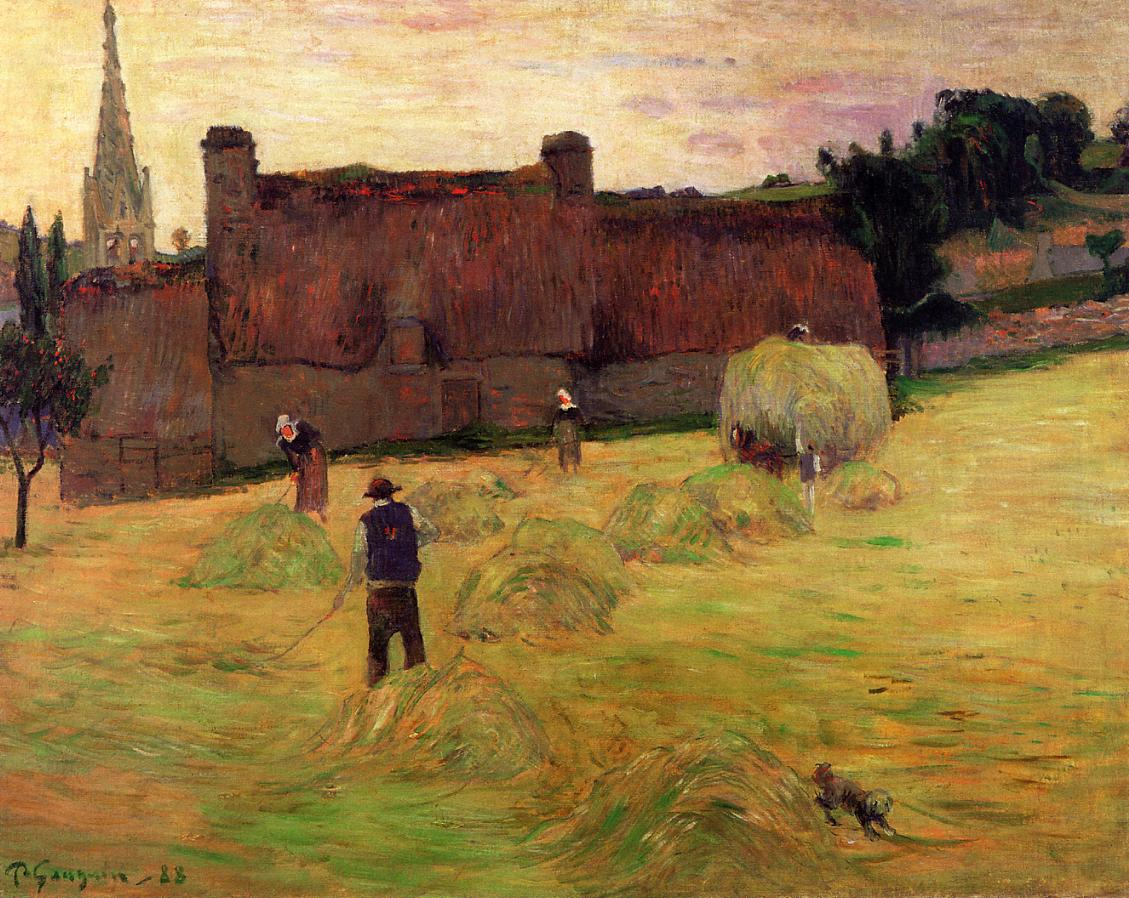Gauguin Haymaking - Paul Gauguin Painting