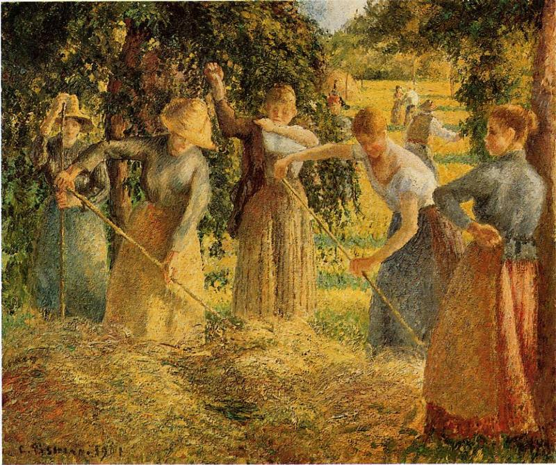 Harvest at Eragny - Camille Pissarro Paintings