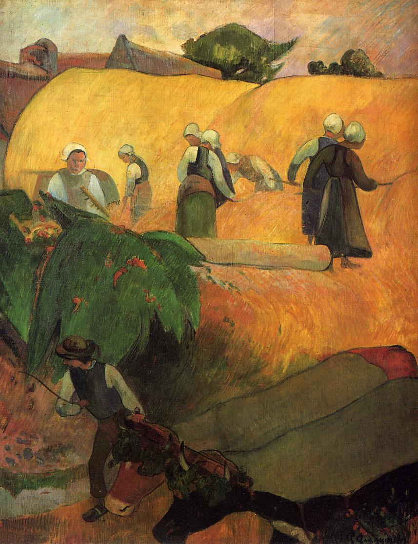 Haymaking in Brittany - Paul Gauguin Painting