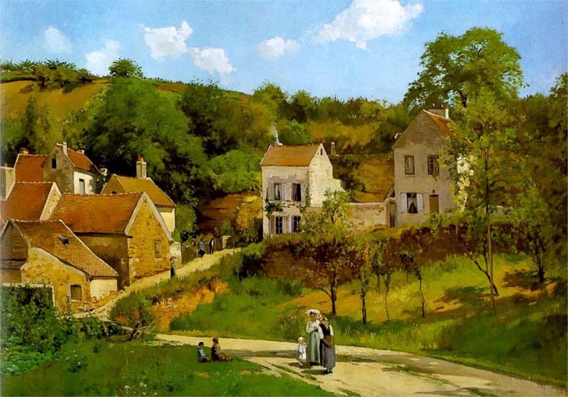 L Hermitage at Pontoise - Camille Pissarro Paintings