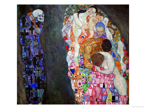 Life and Death - Gustav Klimt Paintings