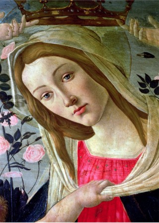 Madonna And Child Crowned By Angels, Detail Of The Madonna - Sandro Botticelli painting on canvas