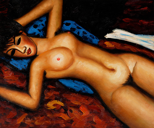Nudo Disteso - Amedeo Modigliani Paintings