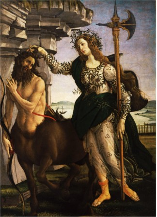 Pallas Or Minerva And The Centaur C.1480 - Sandro Botticelli painting on canvas