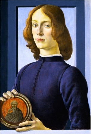 Portrait Of A Young Man - Sandro Botticelli painting on canvas