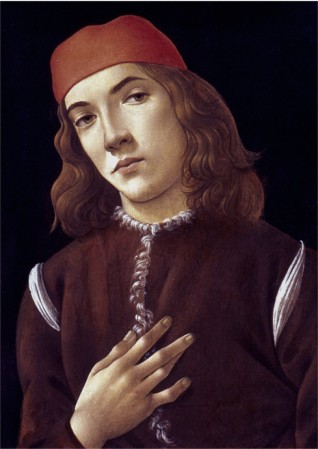 Portrait Of A Youth - Sandro Botticelli painting on canvas