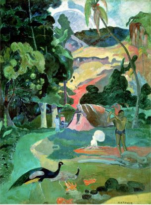 Paul Gauguin Landscape with Peacocks - Paul Gauguin Painting