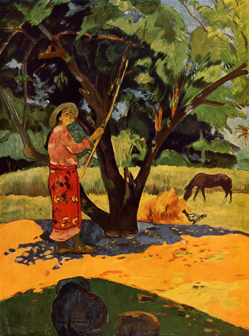 Picking Lemons - Paul Gauguin Painting
