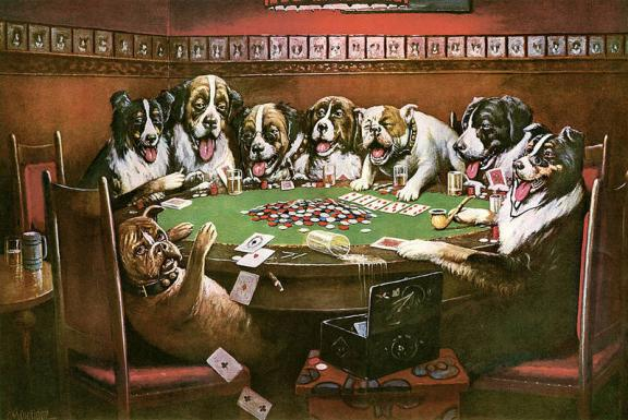 Poker Sympathy - Cassius Marcellus Coolidge Paintings
