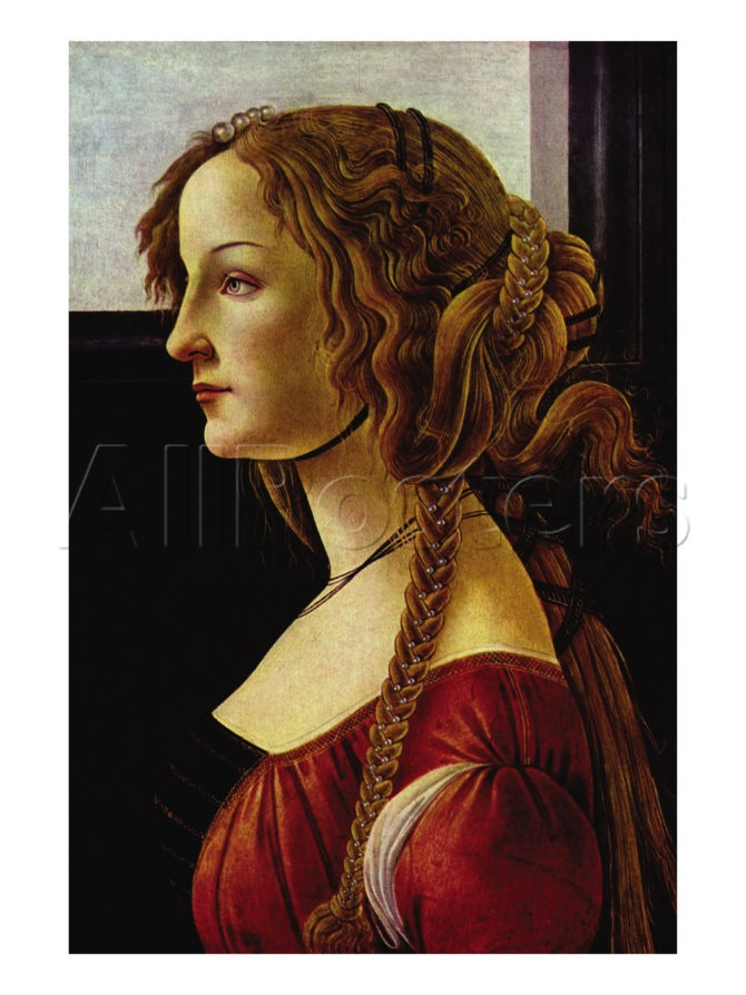 Portrait Of Simonetta Vespucci - Sandro Botticelli painting on canvas