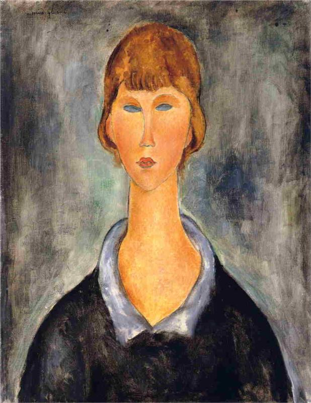 Portrait of a Young Woman - Amedeo Modigliani Paintings