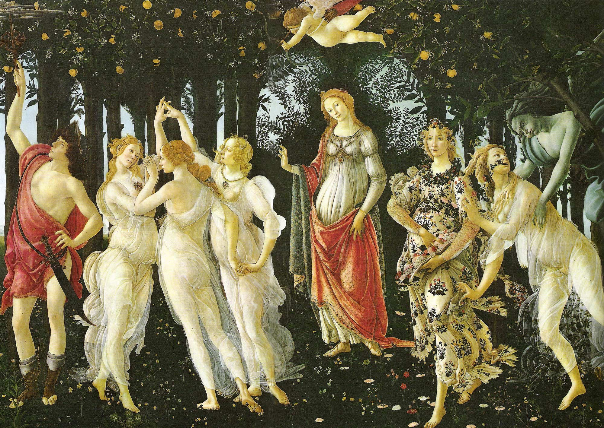 Primavera,1477 - Sandro Botticelli painting on canvas