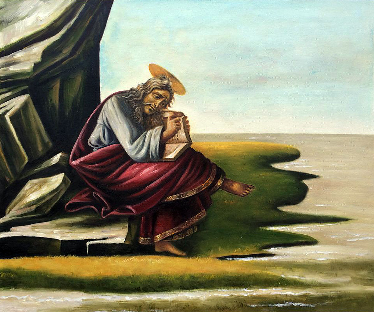St John On Patmos - Sandro Botticelli painting on canvas