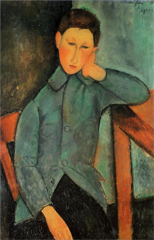 The Boy - Amedeo Modigliani Paintings