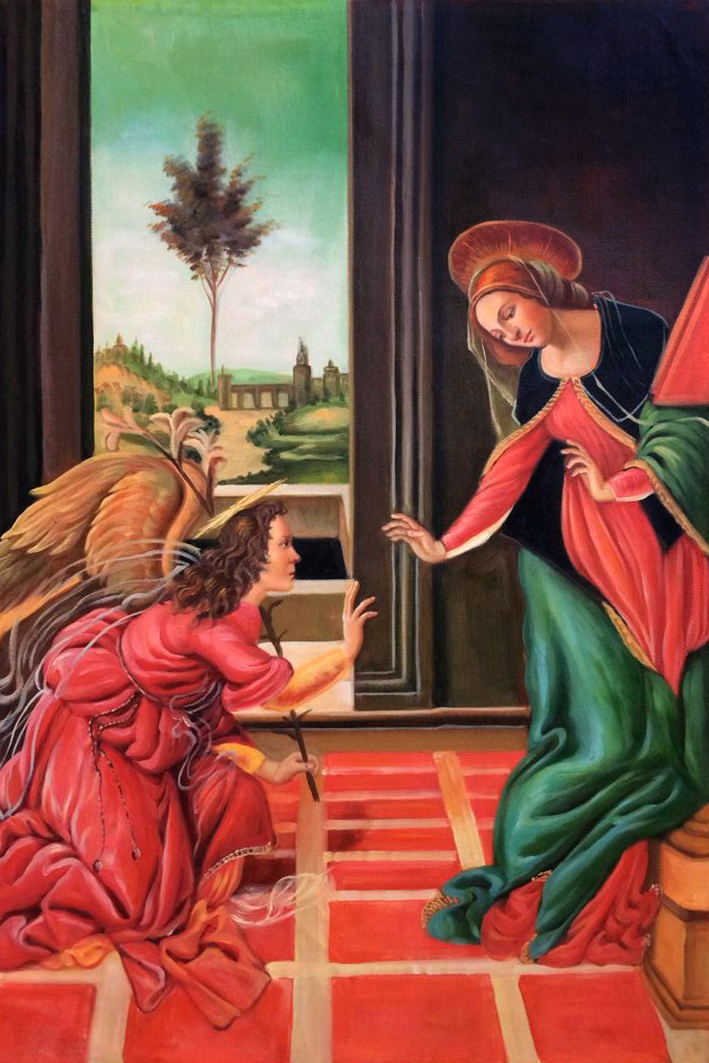 The Cestello Annunciation - Sandro Botticelli painting on canvas