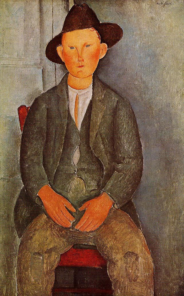 The Little Peasant - Amedeo Modigliani Paintings