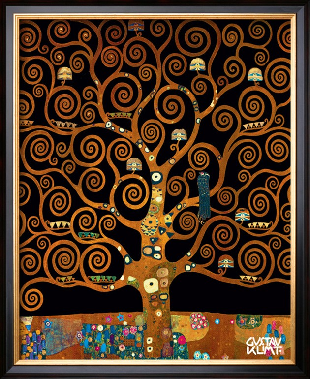 UNDER THE TREE OF LIFE, Gustav Klimt Painting Reproduction ...