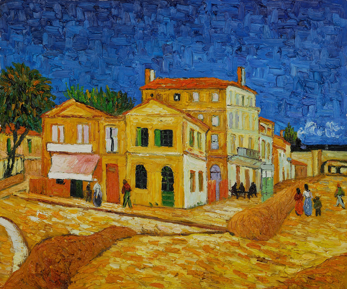 Vincents House in Arles The Yellow House, Vincent Van Gogh ...